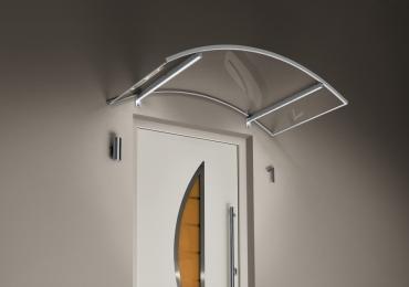 Haustürvordach Bogenvordach mit LED150x90x25