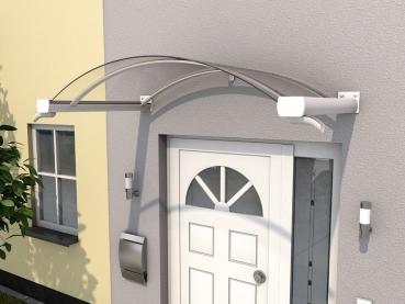 Haustürvordach Bogenvordach BV/B 160x90x30Maße: 160 x 90 x 25 cm